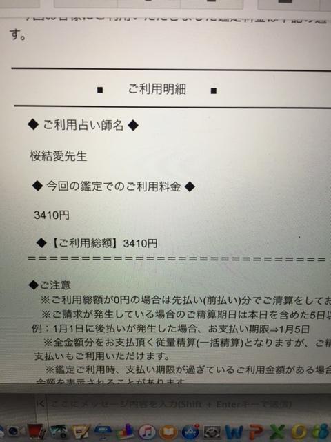 桜結愛先生② 鑑定料