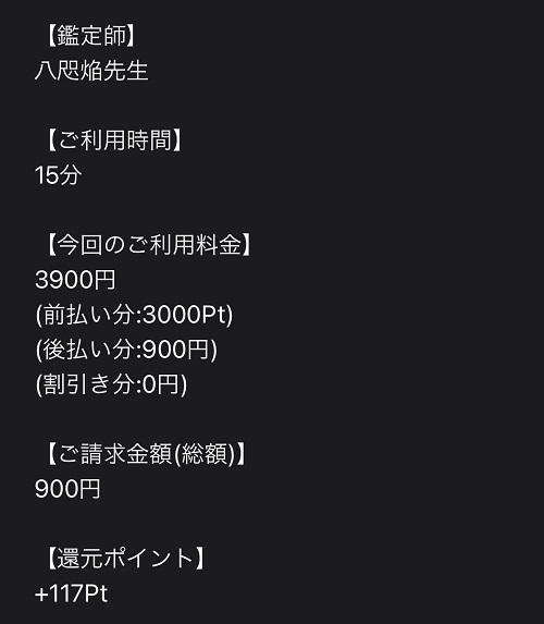 八咫焔先生 鑑定料1