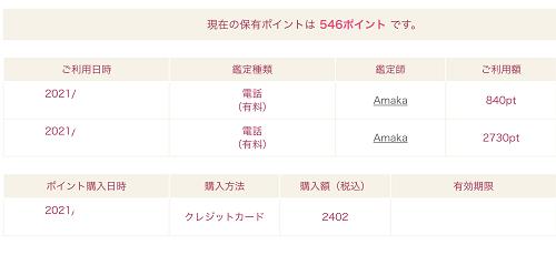 Amaka先生 鑑定料